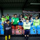 David James and Welwyn Garden City FC youth players