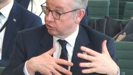 Chancellor of the Duchy of Lancaster Michael Gove giving evidence to MPs at the Select Committee on