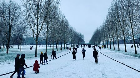 Finsbury Park in winter, January2021.
