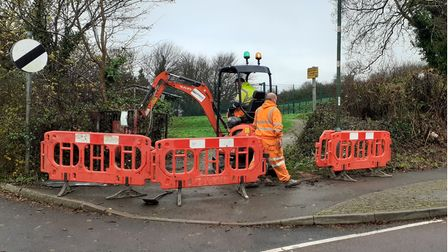 Work starts on the entrance to Westerland Valley, King's Ash