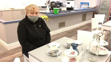 Kathy Hughes, acting chair of the Friends of Oldway, in the tea rooms at Oldway Mansion in Paignton