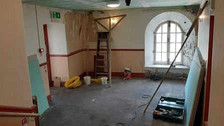 The tea rooms during renovation work