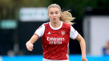 Arsenal's Leah Williamson during the FA Women's Super League match at Meadow Park, London.
