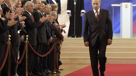 Putin during his inauguration ceremony in 2004