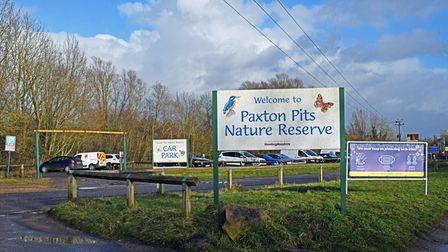 Paxton Pits Nature Reserve.