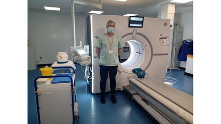 Picture of apprentice in hospital setting