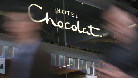 A Hotel Chocolat shop in Victoria, London as the company's initial public offering has valued the fi
