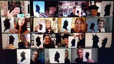 Alison Russell organised the world's first virtual convention of the 'niche' art of cutting silhouette portraits
