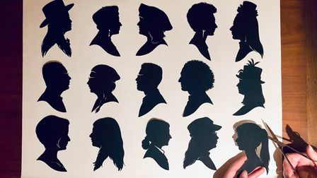 Examples of silhouette portraits which were popular during the Victorian era before the rise of photography