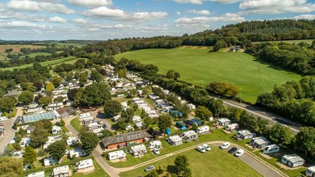Aerial view of Andrewshayes Holiday Park