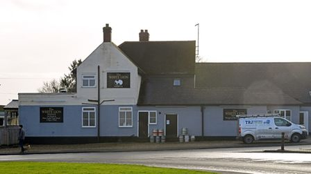 The White Lion Pub in Bury is serving take-away meals in lockdown.