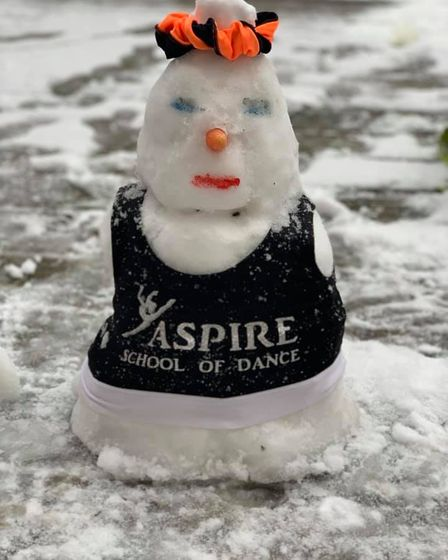 The snowman at Aspire Dance School in Romford.