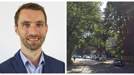 Cllr Adam Harrison is leading Camden's efforts to encourage active travel in areas like King Henry's Road.
