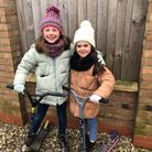 Nine-year-old Polly Anderson and her seven-year-old sister Robyn Symons are gearing up to scoot 30 miles to raise cash for The Queen Elizabeth Hospital in King's Lynn.