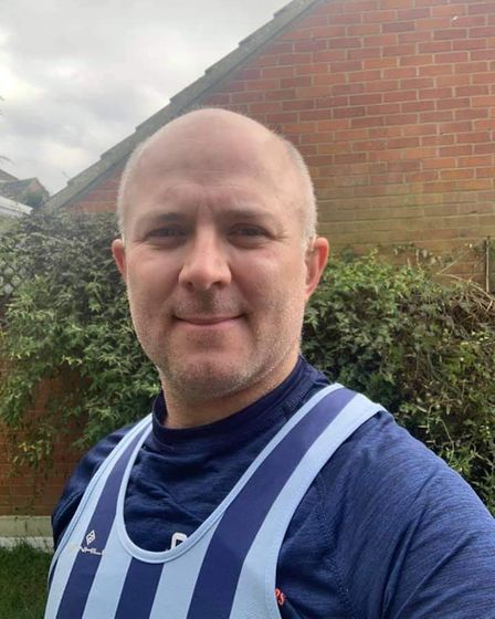 Jon Sypula in his Fairlands Valley Spartan kit for February's stripey Saturday.