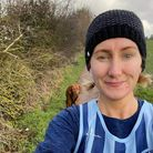 Jo Bowderyin her Fairlands Valley Spartan kit for February's stripey Saturday.