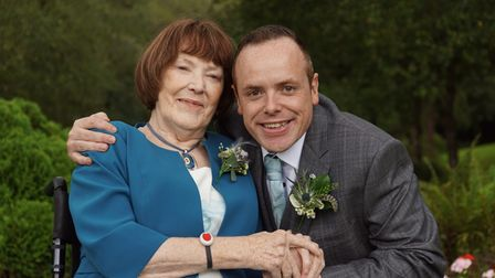 James Brenchley and his mum Cathy