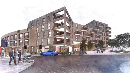 Artists impression of flats development