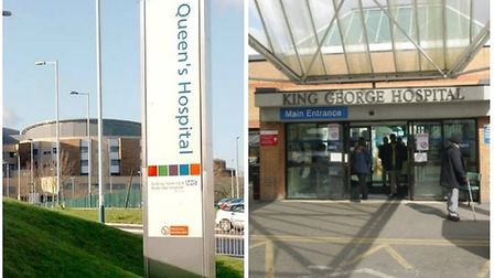Queen's and King George Hospital are both run by the trust. Picture credit: Archant.