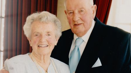 Peter and Dorothy at the Diamond Wedding anniversary in 1999
