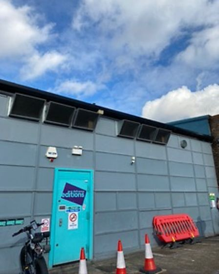 Thecommercial kitchen that Deliveroo has been running without planning permission on the Roman Way industrial Estate