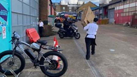Deliveroo is operating a commercial kitchen without planning permission on the Roman Way industrial Estate