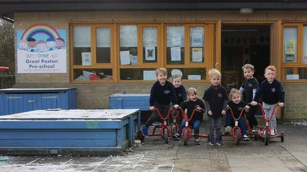 Children from Great Paxton Pre-School have set a challenge toscoot/cycle/ or run atotal of 200KM.
