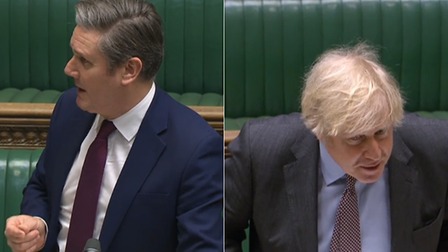 Sir Keir Starmer (L) and Boris Johnson during Prime Minister's Questions