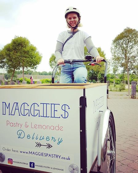 Maggie Christensen started delivering pastries on a cargo bike when she moved from Denmark to Norwich in 2017.