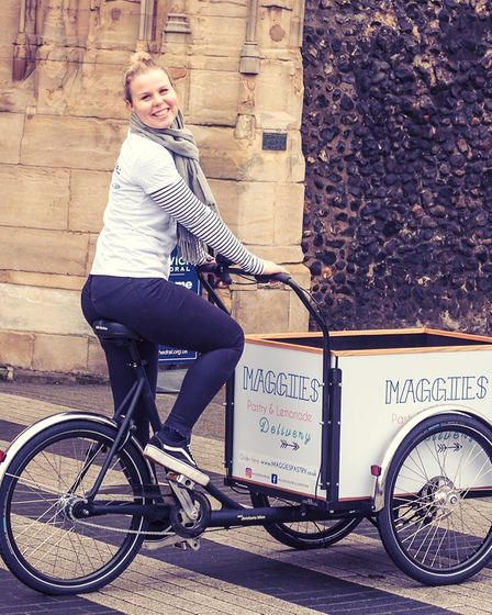 Maggie Christensen moved to Norwich from Denmark in 2017 and began delivering authentic Danish pastries and lemonade on a...