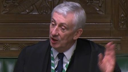 Sir Lindsay Hoyle in the House of Commons