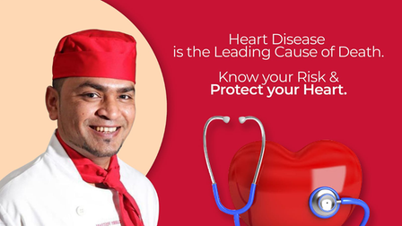 An Indian takeaway founder is urging the public to be vigilant about their heart health