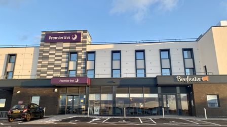 Premier Inn hotel and Beefeater restaurant on Thaxted Road, Saffron Walden