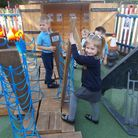 Nursery children in playground