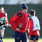 England captain Owen Farrell during a training session