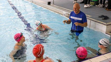 Olympic swimming champion Duncan Goodhew gives advice