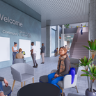 Architects image of how the entrance to the Seven Kings Community Hub may look.