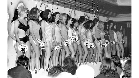 The Miss Anglia contest at Footman's Ipswich store in May 1971
