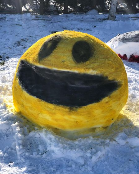 The couple also have a Pac-Man in their front garden