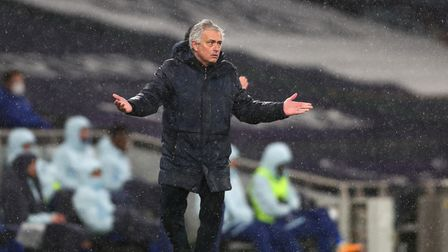 File photo dated 04-02-2021 of Tottenham Hotspur manager Jose Mourinho. Issue date: Friday February