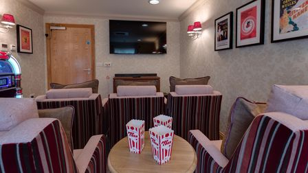 Picture of the cinema room at Trymview Hall