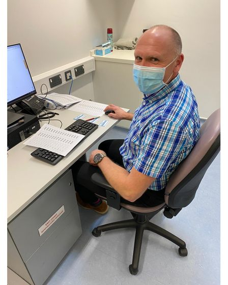 Jon Bray has been given time away from his work as a trainer at UK Power Networks in Bury St Edmunds to volunteer to administer the Covid-19 vaccine in Southwold.
