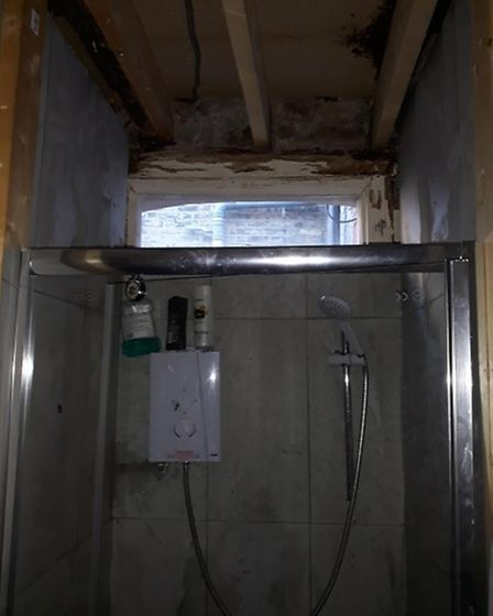 The bathroom had not been maintained at the property in Durrington Road