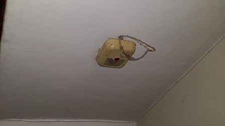 A faulty smoke alarm at the property in Durrington Road