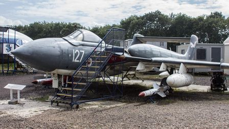 The DH 110 Sea Vixen FAW.2 at the de Havilland Aircraft Museum.