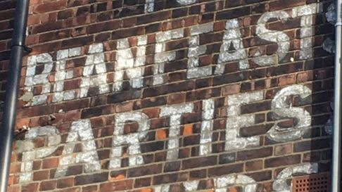 """""""Catering for Beanfeasts, Parties, Clubs"""" in Highgate West Hill, facing over Hampstead Heath"""