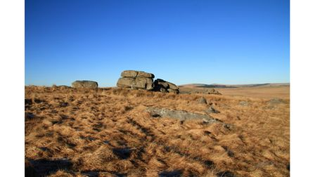 The desolate landscape of Fox Tor Mires