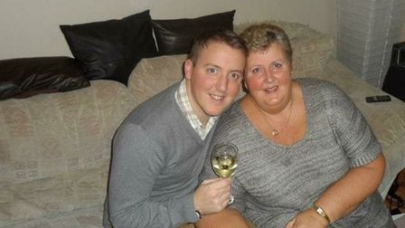 Stewart Molyneux with his mum Julie