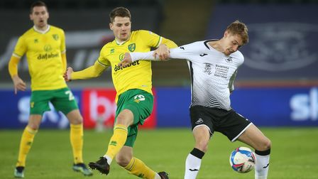 Jacob Sorensen's extended spell as an emergency left back appears to be over for Norwich City