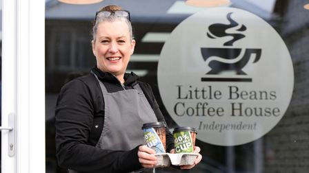 Christy Hendry owner of Little Beans Coffee House. Picture: CHARLOTTE BOND